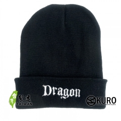 KURO-SHOP dragon  針織帽 扁帽 (可客製化)